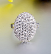 Twilight Daybreak Bella Vera 925 Silver Engagement Ring Women's Band full of diamonds wedding engagement ring