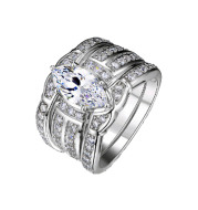 European and American couples ring ring engagement zircon
