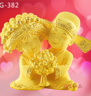 High-grade gold thousand foot cast gold Alluvial Gold Wedding Engagement Wedding Bridal decoration presents a harmoniouslasting a hundred years