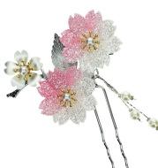 Bob made costume U bride wedding headdress hairpin antique retro acrylic step shake with a flower thousands of bones.
