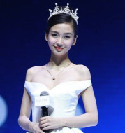 HG219 Angelababy star with a crown of crown water drill pearl alloy head decorations Wedding Bridal ornaments