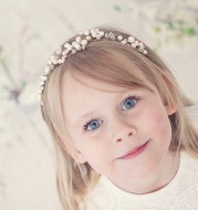 European high-grade children's hair headdress pearl jewelry wedding dress wedding flower girl a sells accessories