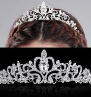 Manufacturers, European and American brides head ornaments, Korean water drill crown wedding head hoop foreign trade Taobao detonating head crown