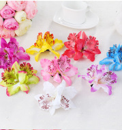 Double orchid flower of Thailand bride wedding flower hairpin beach holiday photo photo hair accessories factory