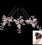 European style exquisite handmade jewelry bride bride wedding dress headdress hairpin leaves wedding jewelry accessories