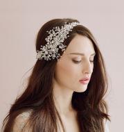 The beautiful bride wedding ornaments export crystal diamond tiara frontlet twigs&honey