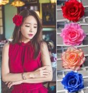 The new red roses flocking cloth headdress hairpin hairpin DIY hair bride wedding high-grade flowers hairpin