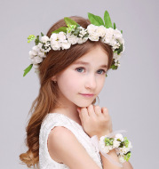 Foreign trade adicolo adult children Crown Princess headdress flower wreath wedding show girls hair headdress