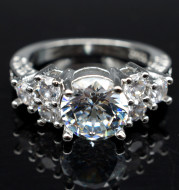 Ebay hot selling diamond hand ornaments wholesale high grade eight heart eight arrow zircon engagement ring