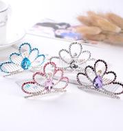 The Korean version of women's hair accessories manufacturers selling diamond crown luxury wedding wedding headdress studio wholesale