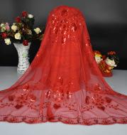 Yiwu wedding wedding wedding supplies wholesale manufacturers headdress wedding bride red head