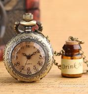 Drift bottle wishing bottle small tea creative gift pocket watch