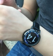 LED touch screen watch led anime creative fashion student waterproof touch watch electronic watch student personality