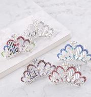 The new Korean diamond tiara comb hair jewelry custom wedding crown Ms.