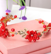 2020 new small red hoop Ling Tong Korean aesthetic headband bride wedding wedding jewelry hair headdress