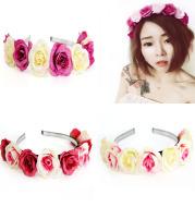 The simulation for the seaside flowers flowers headband cross-border headband Wedding Bridesmaid hair spot wholesale