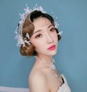 2021 bride jewelry gauze Butterfly Hair wedding headdress wedding wedding accessories hair styling aliexpress