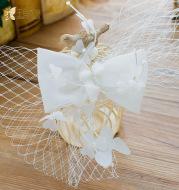 The bride Korean white blue butterfly hairpin bride wedding dress wedding gauze headdress accessories Xiu Zhi