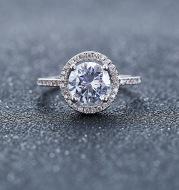 Aliexpress eBay Wedding Engagement Ring Factory wholesale zircon ring Nvjie paktong explosion of Europe