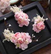 Mori Mantianxing flower sweet bride headdress flower flower hairpin hair simulation set wedding accessories
