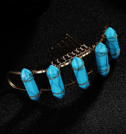 The new Bride Wedding Tiara Comb comb hair fashion Turquoise wedding accessories factory