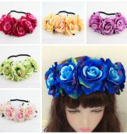 Rose color package Xinxin flocking cloth red rose flower head with DIY hair headdress bride wedding ring