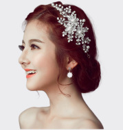 The bride wedding headdress flower hair accessories and jewelry manufacturers wholesale diamond alloy crown bride