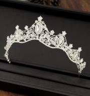 Korean wedding Handmade Beaded headdress wedding wedding accessories crown hoop bride accessories