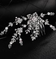 Fashion wedding bride wedding jewelry handmade diamond tiara and hair comb manufacturers selling