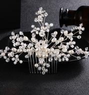 Bride comb fashion handmade pearl diamond wedding accessories is a hair headdress on behalf of