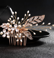 Europe and the United States. The bride wedding jewelry fashion headdress pearl diamond wedding hair comb high-end accessories