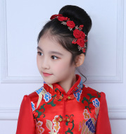Red Headband Tiara jewelry wedding flower children wedding dress collocation jewelry ornaments