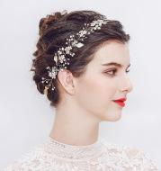 Europe and the new Pearl handmade headband Bride Wedding Hair headdress factory direct sales