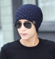 New style, cashmere and warm men's hat for autumn and winter outdoor knitted caps