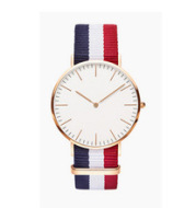 Couple super thin nylon canvas with watches, men and women, casual English fashion student watches wholesale