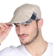 2015 new men's spring and Summer Fashion Hat Beret peaked cap bonnet cap 0310 forward outdoor Korean tide