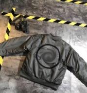 12163 men and women embroidery imitation fur coat jacket loose short pilot jacket inside cotton padded jacket