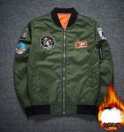 Pilot Jacket Embroidered Jacket Korean Stand Collar Baseball Wear Short Style Handsome Trend Jacket