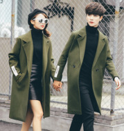 A generation of men's lovers in the long style wind coat Korean Edition, the winter hair, the wind coat coat and the youth leisure tide