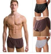 Milk silk split loose loose pants for men