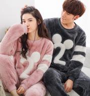 Cartoon flannel pajamas