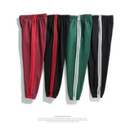 2017 spring and autumn new style, European and American men's clothes, pants, pants, stripes, stripes, small feet, sports pants and men's casual pants