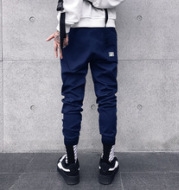 Spring men's pants feet all-match youth Haren code in tide of foreign trade K1832 male hip-hop team overalls