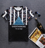 2021 European and American popular fashion new summer digital 3D stereoscopic printing for men's short sleeved T-shirts 3D T shirts wholesale