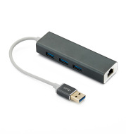 Usb to Gigabit NIC + USB3.0HUB multi-function hub docking station dual system free drive aluminum alloy