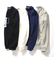 Cashmere Mens Long sleeve t-shirt t-shirt with thickened Korean youth male shirt T-shirt t winter warm clothes in winter