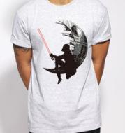 Short sleeved T-shirt for men's summer loose print tide brand big code Jedi warrior stamp wish hot sale