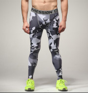 Spot camouflage, body-building pants, male, fast dry pants, running riding pants