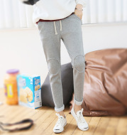 Han Wei and thickened plus Velvet Pants female casual pants size sports pants tide a winter