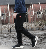 In the winter of 2020 and new tide brand cashmere casual pants feet all-match jogging pants feet thick and simple